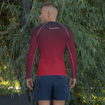 Men's Battle Red Rash Guard