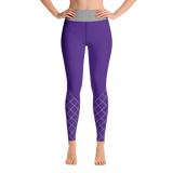 CrissCross Yoga Leggings - Purple & Gray
