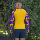 Camo Rash Guard - Purple & Gold