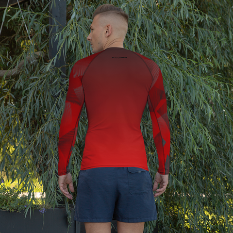 Red Screen Rash Guard