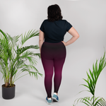 Maroon Out Plus Size Leggings