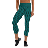 Mermaid Capri Leggings - Green