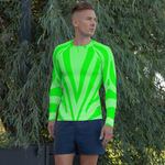 Striped Action Green Rash Guard