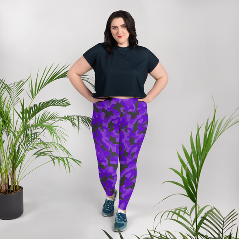 Purple Camo Plus Size Leggings