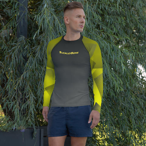 Men's Yellow Screen Rash Guard
