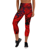 high waist, red, compression, yoga leggings