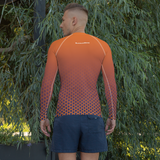 Men's Orange Rash Guard