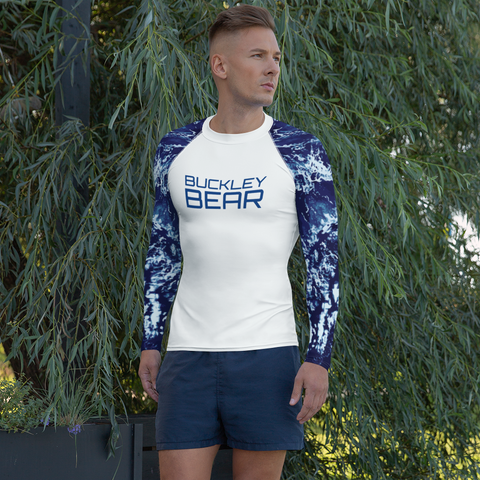 Navy Waves II Rash Guard