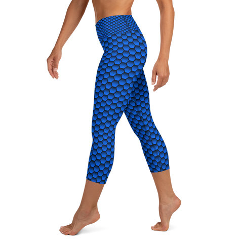 Mermaid Capri Leggings - Blue