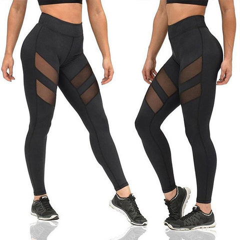Quatro Stretch Mesh Fitness Leggings
