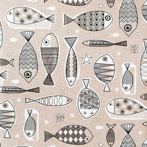 Mid-century brown fish Wallpaper modern retro fishing