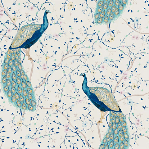 Peacock Garden Wallpaper Floral