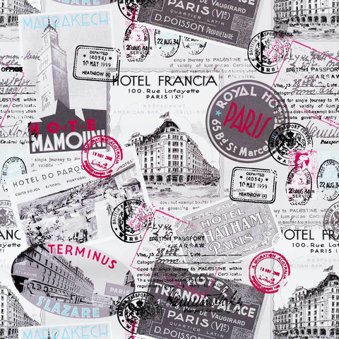 Retro Paris travel Wallpaper vintage postcard posters Italy France