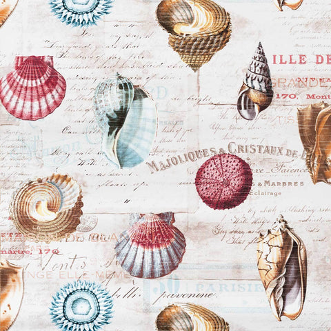 Shell Wallpaper French letters document print travel