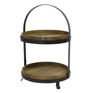 Ploughmans Two Tier Cake Stand