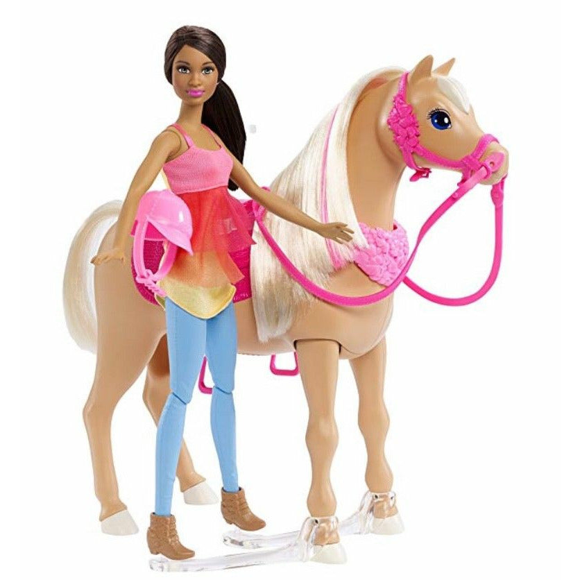 NEW Barbie Dancin' Fun Horse and Doll - African-American