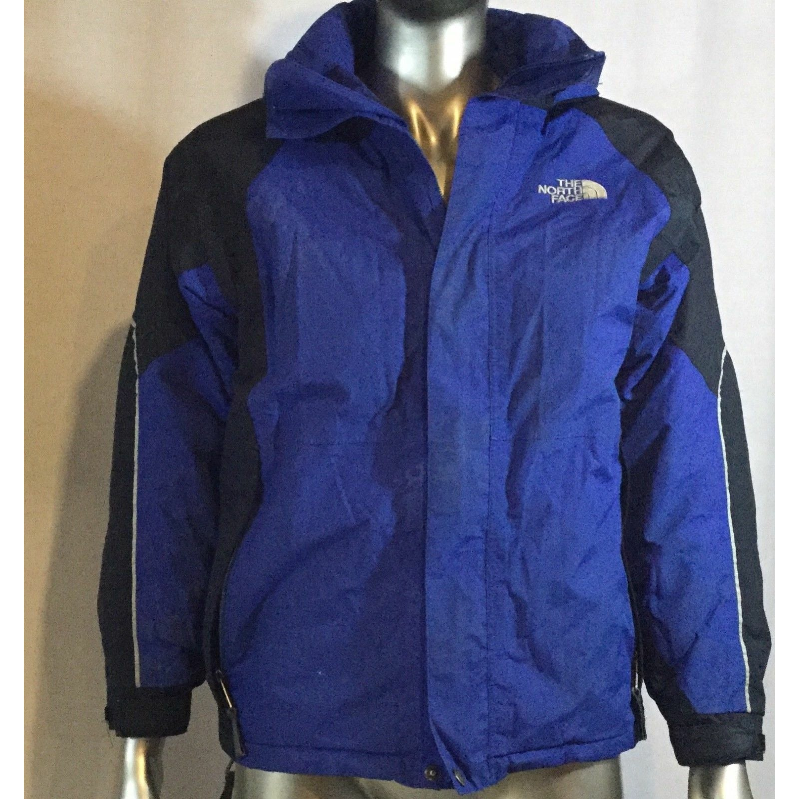 Youth Columbia Jacket, Size Medium, Color, blue and black