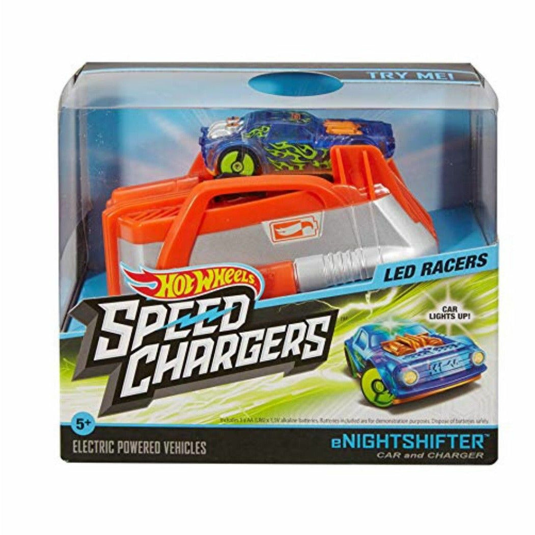 NEW Hot Wheels Speed Chargers, Color Blue Silver Orange