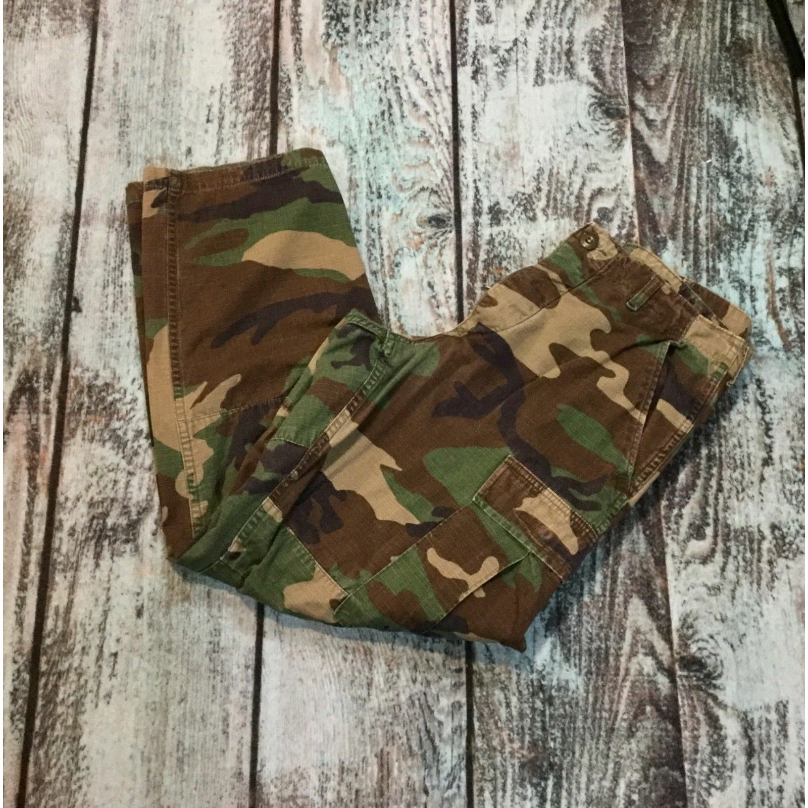 US Military Army Camouflage, Camo Pants, Size Small Short