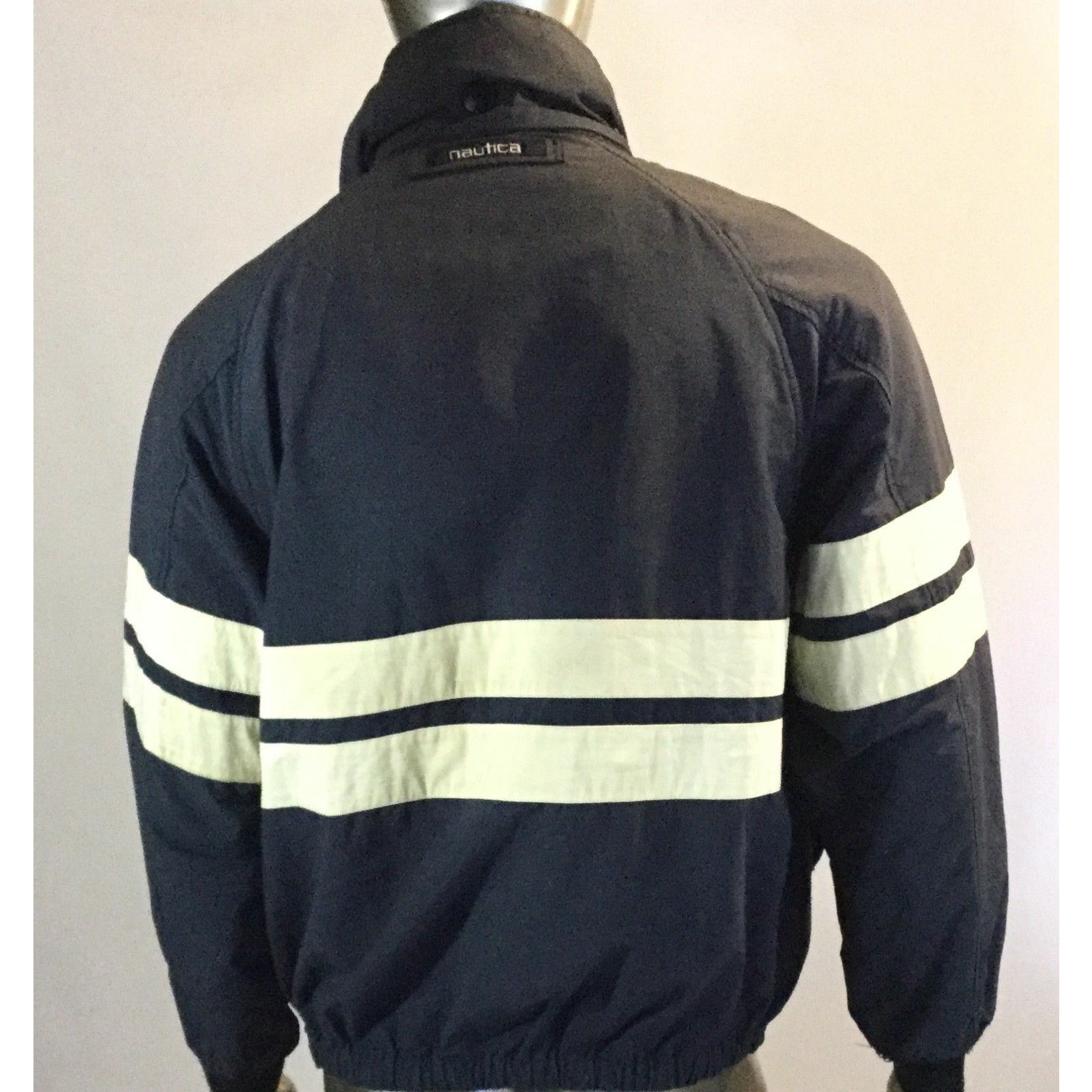 Vintage Nautica Men's Sail Sports Jacket, Col Navy, Block Windbreaker, Size S
