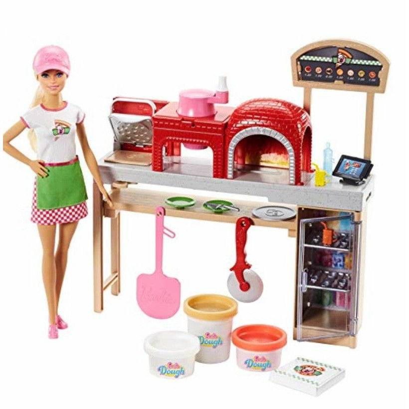 New Barbie Pizza Chef Doll and Playset, Blonde