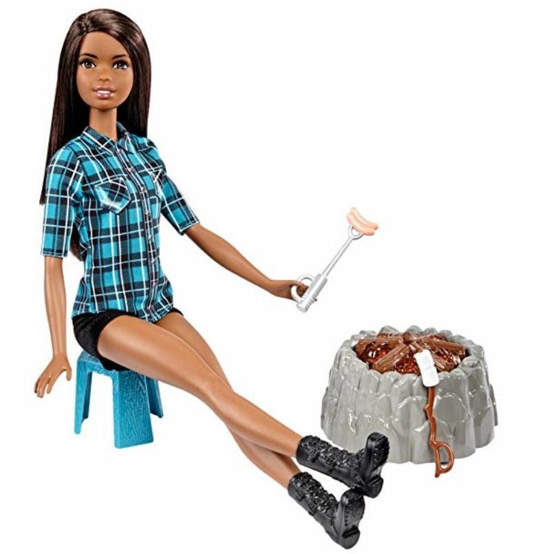 NEW Barbie Campfire Doll, Brunette, Playset 5,0 average based on 1 product ratin