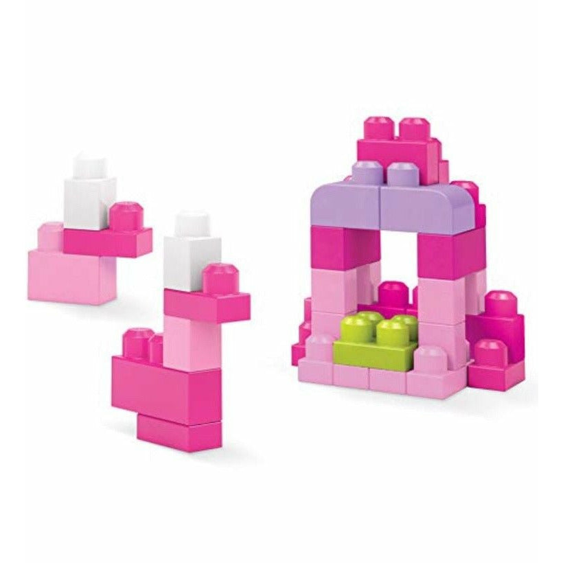 Mega Blocks Pink Big Bag Of Building Blocks By Fisher Price 80pcs Ages 1-5 NIB