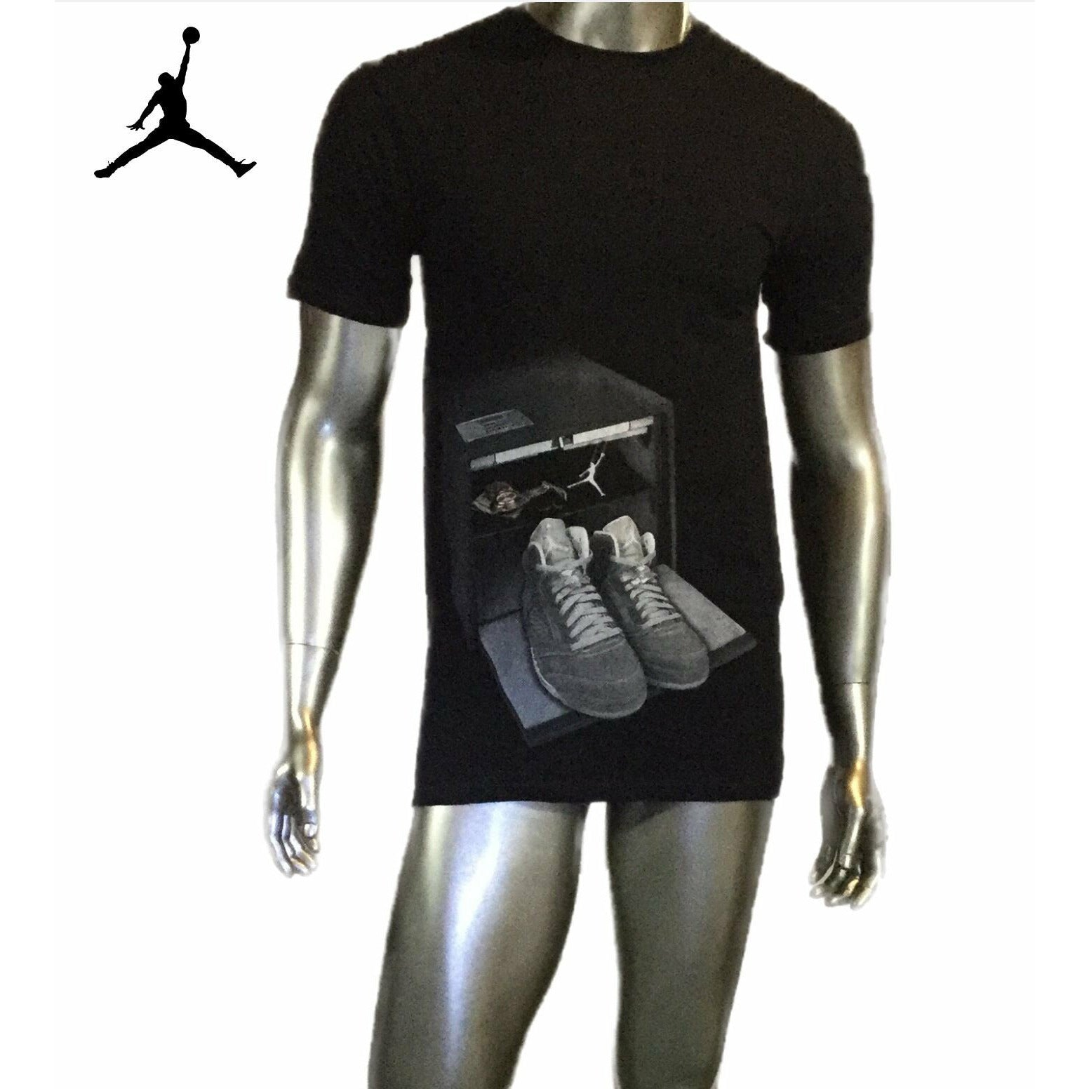 Vintage Air Jordan Tee Shirt, Graphic Sneakers, Size Medium