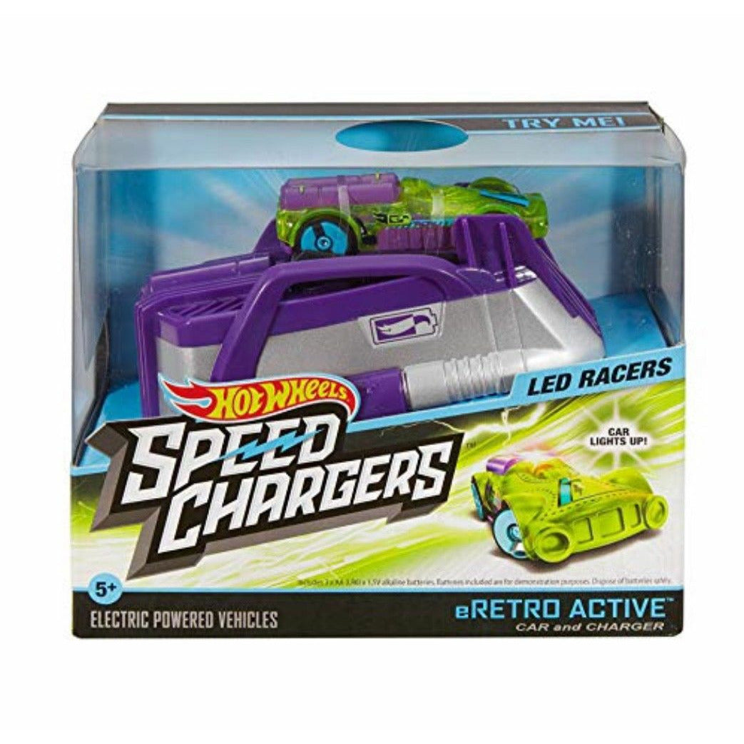 NEW Hot Wheels Speed Chargers, Color Purple, green