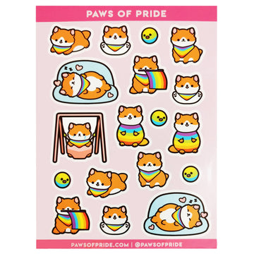 Paws of Gay Stickers