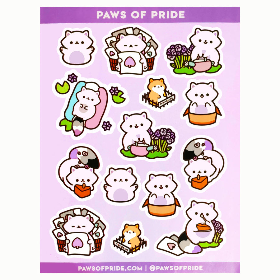 Paws of Asexual Stickers