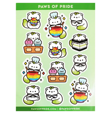 Paws of Agender Stickers