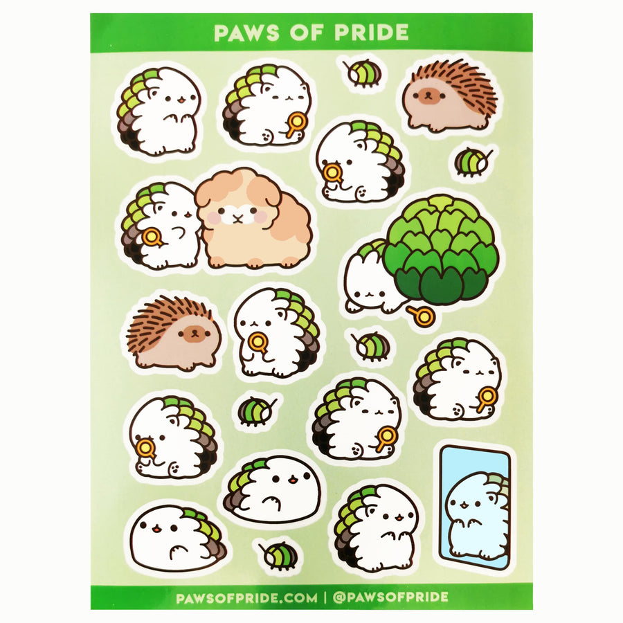 Paws of Aromantic Stickers
