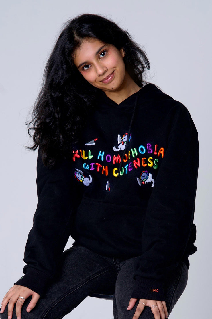 Kill Homophobia With Cuteness Hoodie
