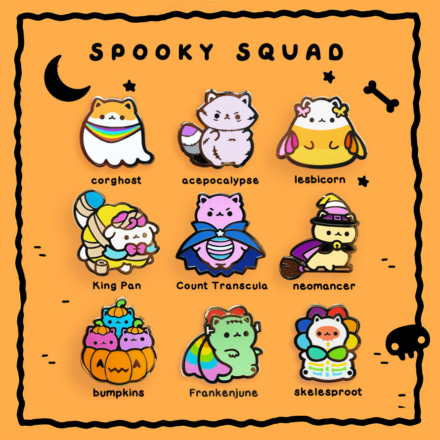 Spooky Squad 9-Pin Set (LIMITED EDITION)