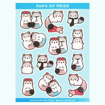 Paws of Demigender Stickers