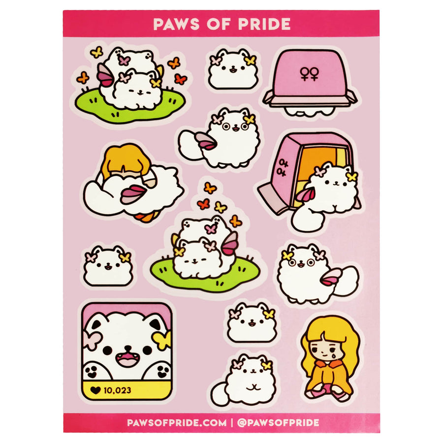 Paws of Lesbian Stickers
