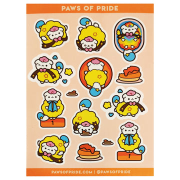 Paws of Pansexual Stickers