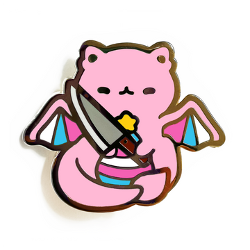 Kill Transphobia With Cuteness Pin