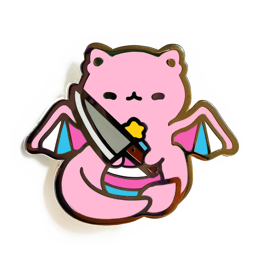 Kill Transphobia With Cuteness Pins