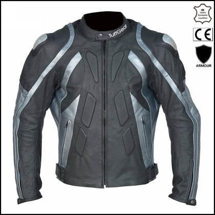 Tuff Gear Motorbike/motorcycle Leather Jacket