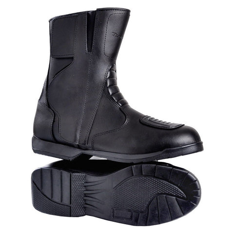 Tuff Gear Leather Motorcycle Boots - Black
