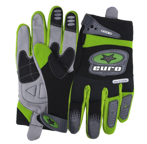 Motocross Motorcycle Gloves - Green