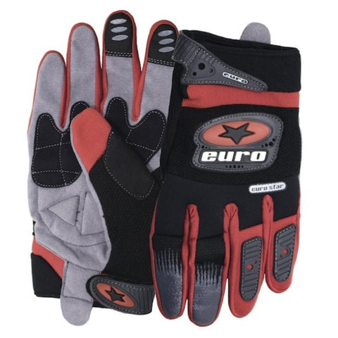 Motocross Motorcycle Gloves - Red