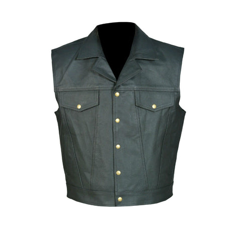 Motorcycle Leather Vest V-33