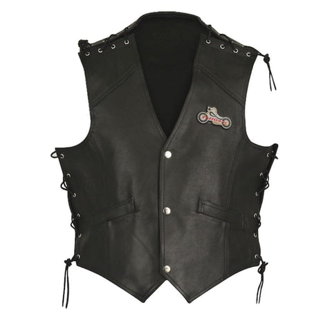 Motorcycle Leather Vest V-55