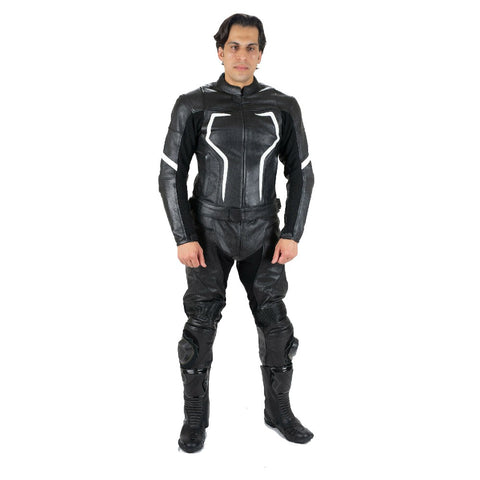 Tuff Gear Motorcycle Leather Jacket - Racer