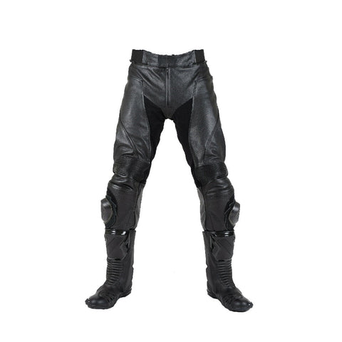 Tuff Gear Motorcycle Men Leather Pants - Racer
