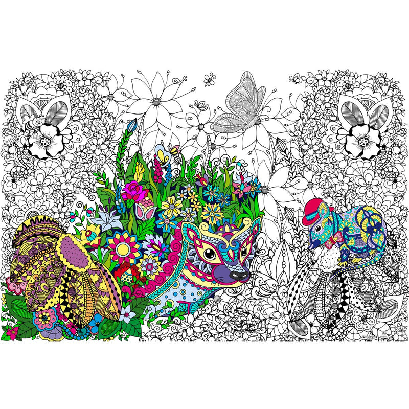 Great2bColorful Coloring Poster (3 Sizes~2 Paper Choices) - Henrietta Hedgehog