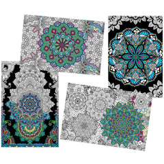 Great2bColorful Coloring Posters - 4 Pack Sheet Set / 24